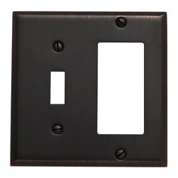 Baldwin Hardware - Beveled Edge 1 Toggle/1 GFCI Switch Combo Wall Plate in Venetian Bronze - Feel the difference - Baldwin hardware is solid throughout, with a 60 year legacy of superior style and quality. Baldwin is the choice for an elegant and secure presence. Baldwin guarantees the beauty of our finishes and the performance of our craftsmanship for as long as you own your home.