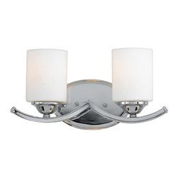 Quoizel Lighting - Quoizel EI8602C Ellis Polished Chrome 2 Light Vanity - 2, 100W A19 Medium