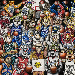Let's Get It Started - NBA Basketball Fan Art - A gathering of Mascots and Best Known Fans from across the NBA.