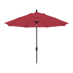 California Umbrella - 11 Foot Pacifica Crank Lift Collar Tilt Aluminum Market Umbrella, Black Pole - California Umbrella, Inc. has been producing high quality patio umbrellas and frames for over 50-years. The California Umbrella trademark is immediately recognized for its standard in engineering and innovation among all brands in the United States. As a leader in the industry, they strive to provide you with products and service that will satisfy even the most demanding consumers.