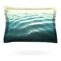 "Kess InHouse - Bree Madden ""Seawater"" Pillow Sham (Woven, 40"" x 20"") - Pairing your already chic duvet cover with playful pillow shams is the perfect way to tie your bedroom together. There are endless possibilities to feed your artistic palette with these imaginative pillow shams. It will looks so elegant you won't want ruin the masterpiece you have created when you go to bed. Not only are these pillow shams nice to look at they are also made from a high quality cotton blend. They are so soft that they will elevate your sleep up to level that is beyond Cloud 9. We always print our goods with the highest quality printing process in order to maintain the integrity of the art that you are adeptly displaying. This means that you won't have to worry about your art fading or your sham loosing it's freshness."