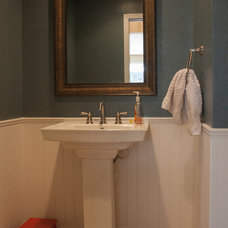 Traditional Powder Room by Brothers Construction