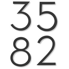 Modern House Numbers Neutra House Numbers in Black