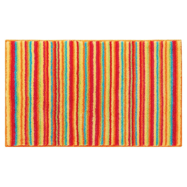 """Grund - Grund Premium Bathroom Comfort Mats-Stripes Series, Orange, Small - Time-honored and spunky!  The Stripes Series is a classic with a twist using colorful combinations and peppy stripes sure to send you straight into a fabulous day!  Machine tufted.  Comes in two colors and is available in three sizes:  21"""" X 24"""" small, 24"""" X 36"""" medium, 24"""" X 60"""" large."""