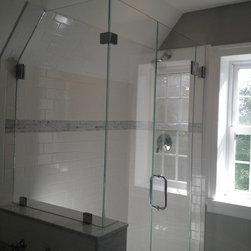 """Frameless Shower Doors, Frameless Glass Enclosures - Glass type: 3/8"""" PPG Starphire"""