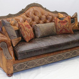 Best sofa in the world, Leather tufted sofa -