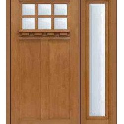 """Prehung Sidelite Door 80 Fiberglass Craftsman 6 Lite SDL Glass - SKU#MFC63DC-SDL6_DFCRD61-1BrandGlassCraftDoor TypeExteriorManufacturer CollectionCraftsman DoorsDoor ModelCraftsman 6 LiteDoor MaterialFiberglassWoodgrainVeneerPrice3870Door Size Options36"""" + 14""""[4'-2""""]  $036"""" + 12""""[4'-0""""]  $0Core TypeDoor StyleCraftsmanDoor Lite Style6 LiteDoor Panel Style2 PanelHome Style MatchingCraftsmanDoor ConstructionPrehanging OptionsPrehungPrehung ConfigurationDoor with One SideliteDoor Thickness (Inches)1.75Glass Thickness (Inches)Glass TypeDouble GlazedGlass CamingGlass FeaturesTempered glassGlass StyleGlass TextureClearGlass ObscurityNo ObscurityDoor FeaturesDoor ApprovalsEnergy Star , TCEQ , Wind-load Rated , AMD , NFRC-IG , IRC , NFRC-Safety GlassDoor FinishesDoor AccessoriesWeight (lbs)418Crating Size25"""" (w)x 108"""" (l)x 52"""" (h)Lead TimeSlab Doors: 7 Business DaysPrehung:14 Business DaysPrefinished, PreHung:21 Business DaysWarrantyFive (5) years limited warranty for the Fiberglass FinishThree (3) years limited warranty for MasterGrain Door Panel"""