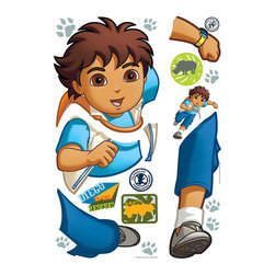 RoomMates Peel & Stick - Diego Giant Wall Decal - Get adventurous with this huge Go, Diego, Go! wall sticker. Little boys and girls will love sticking this to their walls or any other smooth surface parents will love how easy it is to apply and remove, and that RoomMates never leave behind a sticky residue or peel away the paint! Decorating with Diego just couldn't be more fun.