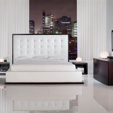 Modern Beds Ludlow Leather Bed By Modloft