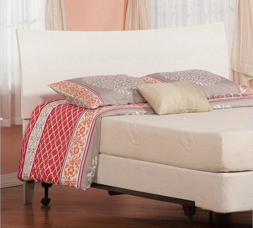 Atlantic Furniture - Atlantic Furniture Soho Twin Headboard in White-Full - Atlantic Furniture - Headboards - R191832 - The Soho headboard is a curved sleigh style bed with an exquisite finish. The Soho is very rugged and doesnt fall short with its looks.