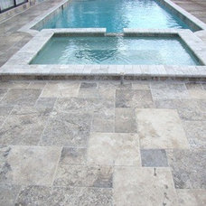Contemporary Wall And Floor Tile Silver Travertine Versailles Pattern Outdoor