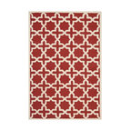 Safavieh - Callum Hand Tufted Rug, Rust / Ivory 9' X 12' - Construction Method: Hand Tufted. Country of Origin: India. Care Instructions: Vacuum Regularly To Prevent Dust And Crumbs From Settling Into The Roots Of The Fibers. Avoid Direct And Continuous Exposure To Sunlight. Use Rug Protectors Under The Legs Of Heavy Furniture To Avoid Flattening Piles. Do Not Pull Loose Ends; Clip Them With Scissors To Remove. Turn Carpet Occasionally To Equalize Wear. Remove Spills Immediately. Ancient symbols combine to create a chic interpretation of transitional Moroccan style in the beautifully textured Sahara area rug. Hand-tufted of superior wool pile and crafted to endure, this simple but striking rug contrasts plush and pile textures for rich dimension.