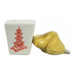 WL - Takeout Box and Fortune Cookie Salt and Pepper Shakers - This gorgeous 2.25 Inch Take Out Box and Fortune Cookie Salt and Pepper Shakers has the finest details and highest quality you will find anywhere! 2.25 Inch Take Out Box and Fortune Cookie Salt and Pepper Shakers is truly remarkable.