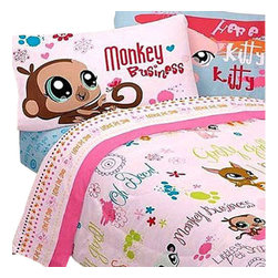 Franco Manufacturing Company Inc - Littlest Pet Shop Animals Lane Full Bedding Sheets Set - Features: