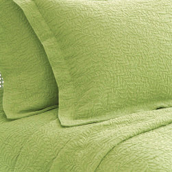 Pine Cone Hill - Pine Cone Hill Scramble Key Lime Matelasse Coverlet - With a gorgeous texture and a popular pattern, the Scramble Keylime Matelasse Coverlet is destined to shine as part of your bedding ensemble. Coverlet available in twin, full/queen and king. 100% cotton twill.