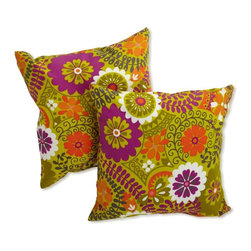 Blazing Needles - Blazing Needles Outdoor 18 in. Print Throw Pillow - Set of 2 - 9910-S-2-REO-12 - Shop for Cushions and Pads from Hayneedle.com! Toss a colorful accent into any outdoor living space with the Blazing Needles Outdoor 18 in. Print Throw Pillow - Set of 2. Dress up your couch or chairs with the fun floral prints of this set of two pillows. Each pillow features a cover of water and fade resistant fabric and soft poly fill. Choose from a variety of color options to match your decor. Main image shown is *Luxury Citron color option. About Blazing NeedlesBlazing Needles L.P. specializes in the manufacture of cushions pillows and futons. As a sister company of International Caravan Inc. Blazing Needles provides a wide variety of cushions to fit the frames and furniture pieces made by International Caravan. In particular Blazing Needles' production of papasan cushions occupies a unique niche within their industry and sets them apart as a prime supplier for certain retailers. Other services they provide include contract filling sewing and import sourcing. The headquarters of International Caravan and Blazing Needles is located in Fort Worth Texas.