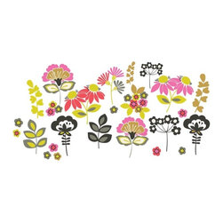 "Brewster Home Fashions - Eden Wall Art Kit Decal - A pop art meadow of mod flowers brings a friendly and fashionable look to your room. Arrange these vivid floral decals to suit your space for a bohemian splash of happiness. Eden Wall Decals come on a 17.25"" x 24"" sheet and contains 27 total pieces. WallPops are always repositionable and removable."