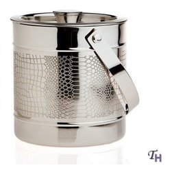 Silver Plated Croco Ice Bucket - - Made of silver plated material