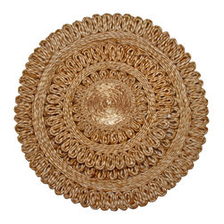 "Toockies - Toockies Sun Trivets - Not only is the Sun Trivet from Toockies inspired by the beauty of nature, it's also friendlier to Mother Nature than metal trivets and fabric trivets made from synthetic fibers. Features a beautiful sunburst design, this sustainable trivet is woven by hand. These beautiful handmade  trivets are sold in a two size set. The large (13"" diameter) trivet is perfect for casserole dishes and roasting pans because they can hold the dishes with out tipping at the corners when you scoop out of them. The medium sized one (7"" diameter) protects your furniture from smaller serving dishes or bowls.  Together, these two add practical elegance to any table."