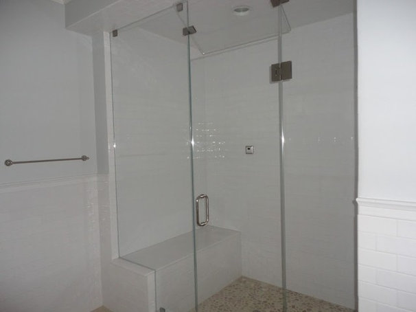 Contemporary Steam Showers by ATM Mirror and Glass