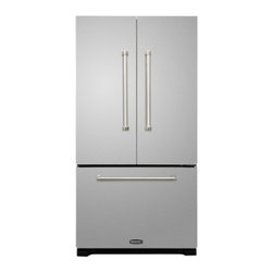 """AGA - AMPROFD20SS Professional Series 36"""" Counter Depth 20 cu. ft. French Door Refrige - The AMPROFD20SS is part of AGA39s Professional series This 36 counter depth french door refrigerator has a capacity of 20 cu ft The two clear door shelves are adjustable letting you fit any size item"""