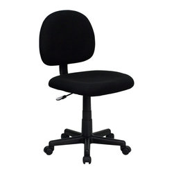Flash Furniture - Flash Furniture Office Chairs Fabric Task Chairs X-GG-KB-066-TB - This value priced task chair will accommodate your essential needs for your home or office. Ergonomically correct chair that is both comfortable and well priced will satisfy the needs of most computer users. [BT-660-BK-GG]