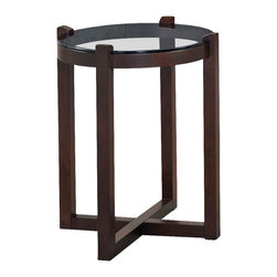 Hammary - Hammary Newbury Round Accent Table in Espresso - Round Accent Table in Espresso belongs to Newbury Collection by Hammary End Table (1)