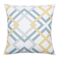 Look Here Jane, LLC - Winston Saffron Yellow Pillow Cover - PILLOW COVER