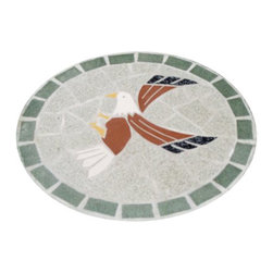 Oakland Living - Oakland Living Stepping Stone Eagle in Mosaic - Oakland Living - Garden Sculpture - 6038MO - About This Product: