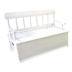 Levels of Discovery - Simply Classic: White Bench Seat with Storage - Classic colors�timeless finishes�always in style The perfect accent for any d�corTimeless finish. All products have instructions included for assembly. All products have instructions included for assembly. .