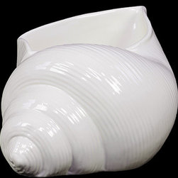 """Benzara - Elegant and Attractive Ceramic Shell in White (Small) - Imbue your home with the radiance and grace of the Elegant and Attractive Ceramic Shell in White (Small). This lovely ceramic showpiece features a seashell design and comes in a striking white color. This elegant showpiece can be used as a decor item and is also suitable for storing trinkets, accessories and other items. The seashell features a wide open rim and is made from the finest ceramic. The dimensions of the Elegant and Attractive Ceramic Shell in White (Small) are 7.5""""x7""""x6""""H. Ceramic; White; 7.5""""x7""""x6""""H; Dimensions: 8""""L x 7""""W x 6""""H"""