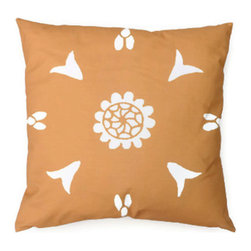 Yellow Pillow Suzani Moroccan African 20 x 20 - Suzani Throw Pillow in Yellow Ochre and Off White color. This is one of my original textile designs printed on 6 oz weight cotton fabric. Back side is solid yellow ochre and this pillow has an invisible zipper for easy access. Can be machine washed separately on delicate cycle, cold water with non-phosphate detergent and line dried. However, dry cleaning is recommended for best result. (Style: Suzani Stencil)