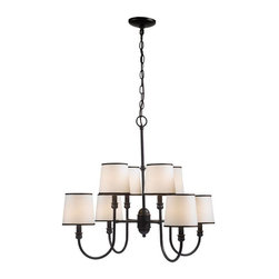 World Imports - Brisbane 8-Light Chandelier, Euro Bronze - Euro bronze finish