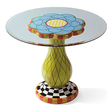 Hand-Painted Flower Table - This Hand-Painted Flower Table will add color and whimsy to your outdoor space this summer. It's cute and fun all at the same time.