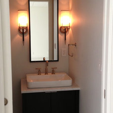 Contemporary Powder Room by Creative Spaces & Elements, llc