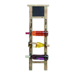 Woodland Imports - Woodland Imports Chalkboard 4 Bottle Wood Wall Wine Rack Multicolor - 56050 - Shop for Wine Bottle Holders and Racks from Hayneedle.com! Bring a bit of bistro to your bar with the Woodland Imports Chalkboard 4 Bottle Wood Wall Wine Rack. Sturdily crafted of solid hardwood with a weathered unfinished look this cafe-inspired wine rack is topped by a chalkboard so you can jot down specials or thoughts for the day. This rustic rack carries up to four wine bottles.