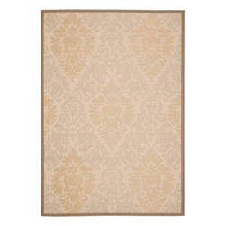 """Safavieh - Courtyard Rug, Beige/Dark Beig, 5'-3"""" x 7'-7"""" - Safavieh takes classic beauty outside of the home with the launch of their Courtyard Collection. Made in Belgium with enhanced polypropylene for extra durability, these rugs are suitable for anywhere inside or outside of the house."""