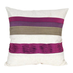 """Wayborn - Wayborn Decorative Pillow 17"""" x 17"""" in Beige and Purple - Wayborn - Throw Pillows - 11137 - The Wayborn Decorative Pillow is perfect to enhance your living room or bedrooms decor. Mix and match with other Wayborn pillows to create that personal touch."""