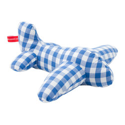 Pakhuis Oost - Airplane Cuddle - Let your child's imagination take flight. This timeless gingham jet will surely begin life as a cuddle toy, but it may be part of an airplane fleet during your little one's preschool years. This vintage-style toy is a cheerful addition to an airplane-themed bedroom.