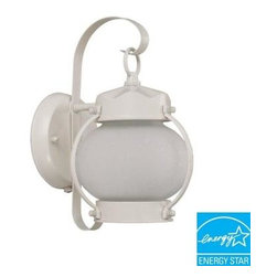 Glomar Outdoor Lighting Onion Wall Mount Outdoor White Light Fixture Sho