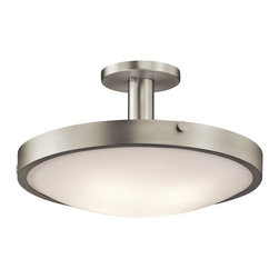 Kichler Lighting - Kichler Lighting 42246NI Lytham Transitional Semi Flush Mount Ceiling Light - This 4 light semi flush ceiling fixture is elegant and understated. Featuring a polished, Brushed Nickel finish and Satin Etched White Glass, this design can complement any space.