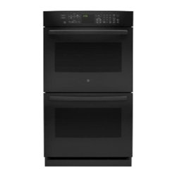 "GE Profile - PT7550DFBB 30"" Double Oven  with Upper Convection  Designer Style Handle  and Se - Profile 30 Double Oven with Upper Convection Designer Style Handle and Self Clean with Steam Clean Option"