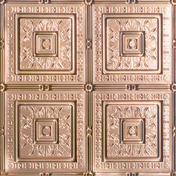 """Decorative Ceiling Tiles - Tropical Fantasy - Copper Ceiling Tile - 24""""x24"""" - #12004 - Find copper, tin, aluminum and more styles of real metal ceiling tiles at affordable prices . We carry a huge selection and are always adding new style to our inventory."""