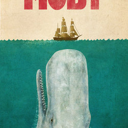 Moby Art Print by Terry Fan - This is great for a boys' room. I especially like it because I just finished reading this book.