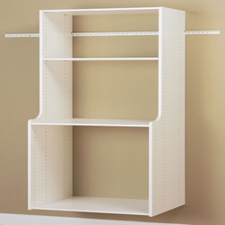 Easy Track - Easy Track Closet White Hanging Hutch Kit - RV2072 - 2180-1725 - Shop for Closet from Hayneedle.com! About Easy Track Easy Track is designed to you command your closet like never before. With a single wall-mounted rail and an endless array of cabinets hangers racks and more the Easy Track system let you put everything in its right place. Begin with a starter kit and expand from there. When your needs or space change so does your Easy Track closet system. They're great in closets from the basic to the walk-in and they also provide amazing storage solutions in laundry rooms craft rooms and more. Get Easy Track and see how simple your storage can be.