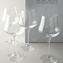 Four Wine Glasses by Cristal de Paris - Exclusively ours. The clink of these sparkling glasses means a good time is being had by all.