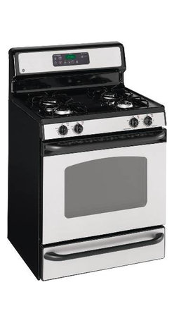 GE - GE CLEANSTEEL 30 IN. FREE-STANDING GAS RANGE - CleanSteel