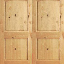"""S/W-95 Interior Knotty Alder 2 Panel Arch Top Panel Double Door - SKU#S/W 95-2BrandAAWDoor TypeInteriorManufacturer CollectionInterior Knotty Alder DoorsDoor ModelDoor MaterialWoodWoodgrainKnotty AlderVeneerPrice360Door Size Options2(15"""") x 80"""" (2'-6"""" x 6'-8"""")  $02(18"""") x 80"""" (3'-0"""" x 6'-8"""")  +$202(24"""") x 80"""" (4'-0"""" x 6'-8"""")  +$1602(28"""") x 80"""" (4'-8"""" x 6'-8"""")  +$1802(30"""") x 80"""" (5'-0"""" x 6'-8"""")  +$1802(32"""") x 80"""" (5'-4"""" x 6'-8"""")  +$1802(36"""") x 80"""" (6'-0"""" x 6'-8"""")  +$2002(15"""") x 84"""" (2'-6"""" x 7'-0"""")  +$3202(28"""") x 84"""" (4'-8"""" x 7'-0"""")  +$3402(30"""") x 84"""" (5'-0"""" x 7'-0"""")  +$3402(32"""") x 84"""" (5'-4"""" x 7'-0"""")  +$3402(36"""") x 84"""" (6'-0"""" x 7'-0"""")  +$3602(15"""") x 96"""" (2'-6"""" x 8'-0"""")  +$1402(18"""") x 96"""" (3'-0"""" x 8'-0"""")  +$1602(24"""") x 96"""" (4'-0"""" x 8'-0"""")  +$3202(28"""") x 96"""" (4'-8"""" x 8'-0"""")  +$3802(30"""") x 96"""" (5'-0"""" x 8'-0"""")  +$3802(32"""") x 96"""" (5'-4"""" x 8'-0"""")  +$4002(36"""") x 96"""" (6'-0"""" x 8'-0"""")  +$400Core TypeSolidDoor StyleDoor Lite StyleDoor Panel Style2 Panel , Arch Top PanelHome Style MatchingMediterranean , Pueblo , Prairie , Suburban , LogDoor ConstructionEngineered Stiles and RailsPrehanging OptionsPrehung , SlabPrehung ConfigurationDouble DoorDoor Thickness (Inches)1 3/8 , 1 3/4Glass Thickness (Inches)Glass TypeGlass CamingGlass FeaturesGlass StyleGlass TextureGlass ObscurityDoor FeaturesDoor ApprovalsDoor FinishesDoor AccessoriesWeight (lbs)680Crating Size25"""" (w)x 108"""" (l)x 52"""" (h)Lead TimeSlab Doors: 7 daysPrehung:14 daysPrefinished, PreHung:21 daysWarranty1 Year Limited Manufacturer WarrantyHere you can download warranty PDF document."""