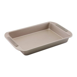 Farberware - Farberware Soft Touch Bakeware 9 in. x 13 in. Rectangular Cake Pan - 52142 - Shop for Cake Pans from Hayneedle.com! The Farberware Soft Touch Bakeware 9 in. x 13 in. Cake Pan is a classic for brownies cakes and more. This cake pan is crafted of steel with a quality non-stick coating for easy clean-up and has easy to grip silicon on the handles.