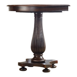"Hooker Furniture - Hooker Furniture Eastridge 42in. Pedestal Pub Table - Crafted using hardwood solids and cherry veneers the majestic beauty of the Eastridge collection is sure to please. Hardwood Solids and Cherry Veneers with Resin. Dimensions: 42""W x 42""D x 42""H."